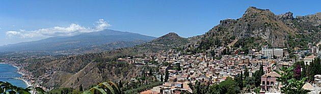 Panorama from the Greek Theatre, Taormina
