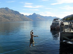 Tightrope walking Queenstown style