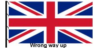 Union Jack flown upside down.