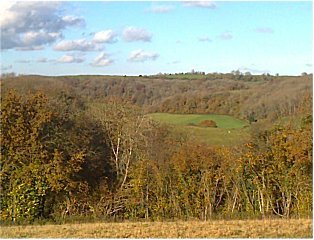 view from Cotswold Way above Kilcott