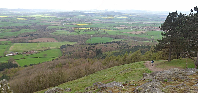 Looking South across the Severn valley from the Wrekin